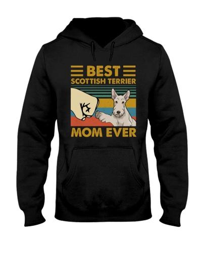 Retro Blue Best Scottish Terrier Mom Ever