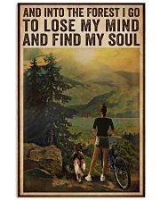 Vintage And Into The Forest Cycling Dogs Girl 16x24 Poster front