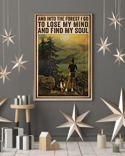 Vintage And Into The Forest Cycling Dogs Girl 16x24 Poster lifestyle-holiday-poster-1