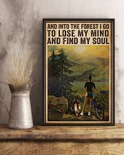 Vintage And Into The Forest Cycling Dogs Girl 16x24 Poster lifestyle-poster-3