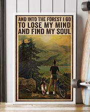 Vintage And Into The Forest Cycling Dogs Girl 16x24 Poster lifestyle-poster-4