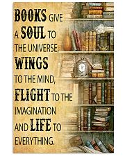 Books Give A Soul To The Universe Reading 16x24 Poster front