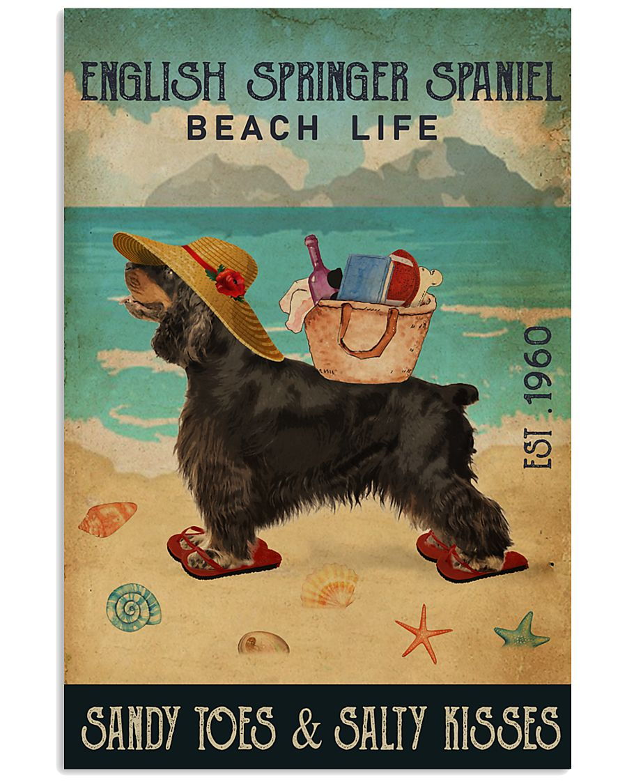 Beach Life Sandy Toes English Springer Spaniel 11x17 Poster