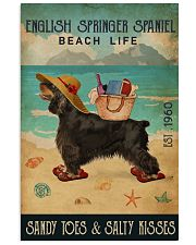 Beach Life Sandy Toes English Springer Spaniel 11x17 Poster front
