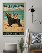 Beach Life Sandy Toes English Springer Spaniel 11x17 Poster lifestyle-poster-1