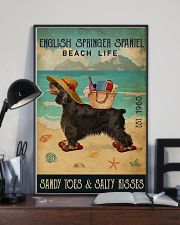 Beach Life Sandy Toes English Springer Spaniel 11x17 Poster lifestyle-poster-2