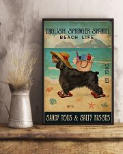 Beach Life Sandy Toes English Springer Spaniel 11x17 Poster lifestyle-poster-3