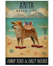 Beach Life Sandy Toes Akita 11x17 Poster front