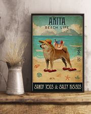 Beach Life Sandy Toes Akita 11x17 Poster lifestyle-poster-3