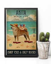 Beach Life Sandy Toes Akita 11x17 Poster lifestyle-poster-8