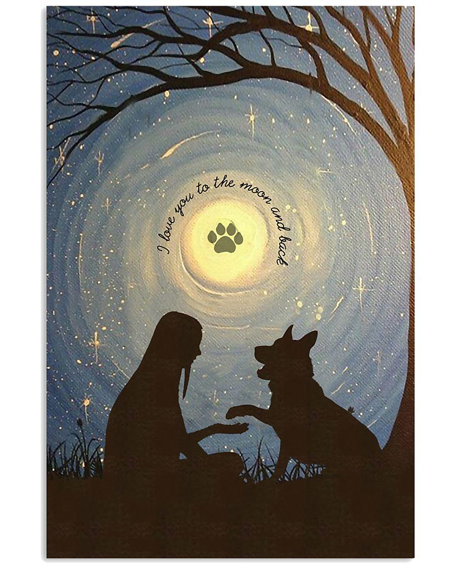 Love You To The Moon Hand Shake German Shepherd 11x17 Poster