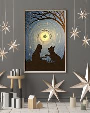 Love You To The Moon Hand Shake German Shepherd 11x17 Poster lifestyle-holiday-poster-1