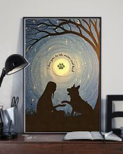 Love You To The Moon Hand Shake German Shepherd 11x17 Poster lifestyle-poster-2