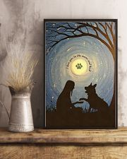 Love You To The Moon Hand Shake German Shepherd 11x17 Poster lifestyle-poster-3