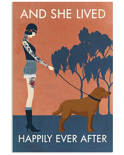 Vintage Tattoo Girl Happy Chesapeake Bay Retriever