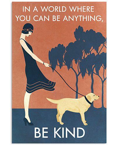 Vintage Girl Be Kind Labrador Retriever