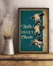 Retro Hello Sweet Cheeks Cow 16x24 Poster lifestyle-poster-3