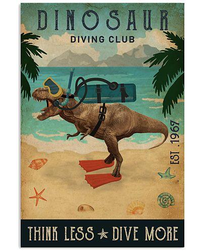 Vintage Diving Club Dinosaur