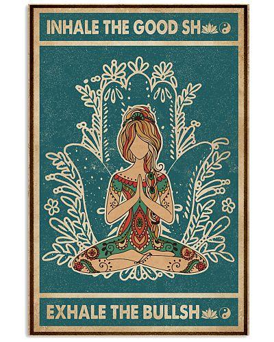 Retro Green Inhale The Good Yoga Girl