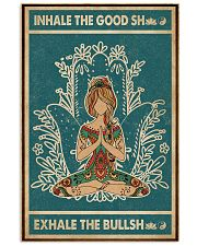 Retro Green Inhale The Good Yoga Girl 11x17 Poster front