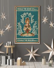 Retro Green Inhale The Good Yoga Girl 11x17 Poster lifestyle-holiday-poster-1