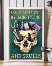 Retro Easily Distracted By Hairstylist And Skulls 16x24 Poster lifestyle-poster-4
