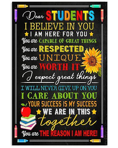 Teacher Dear Students I Believe In You