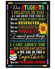 Teacher Dear Students I Believe In You 11x17 Poster front