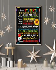 Teacher Dear Students I Believe In You 11x17 Poster lifestyle-holiday-poster-1