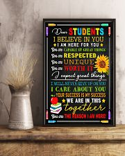 Teacher Dear Students I Believe In You 11x17 Poster lifestyle-poster-3