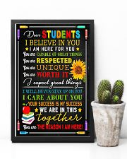 Teacher Dear Students I Believe In You 11x17 Poster lifestyle-poster-8
