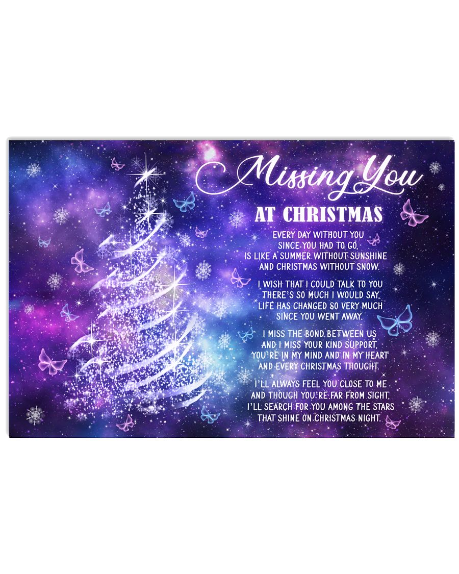 Lovers Missing You At Christmas Butterfly 24x16 Poster
