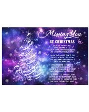 Lovers Missing You At Christmas Butterfly 24x16 Poster front