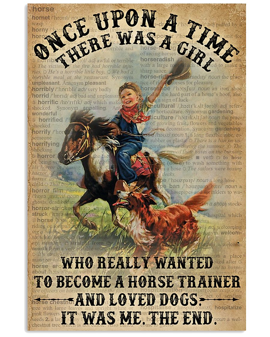 Dictionary Horse Trainer Girl Love Dog 11x17 Poster