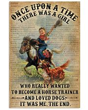 Dictionary Horse Trainer Girl Love Dog 11x17 Poster front