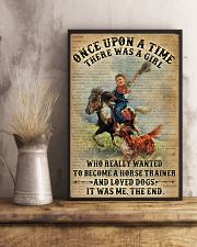 Dictionary Horse Trainer Girl Love Dog 11x17 Poster lifestyle-poster-3