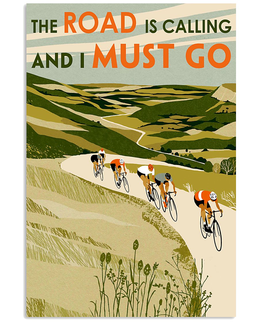 The Road Is Calling Cycling 11x17 Poster