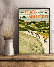 The Road Is Calling Cycling 11x17 Poster lifestyle-poster-3