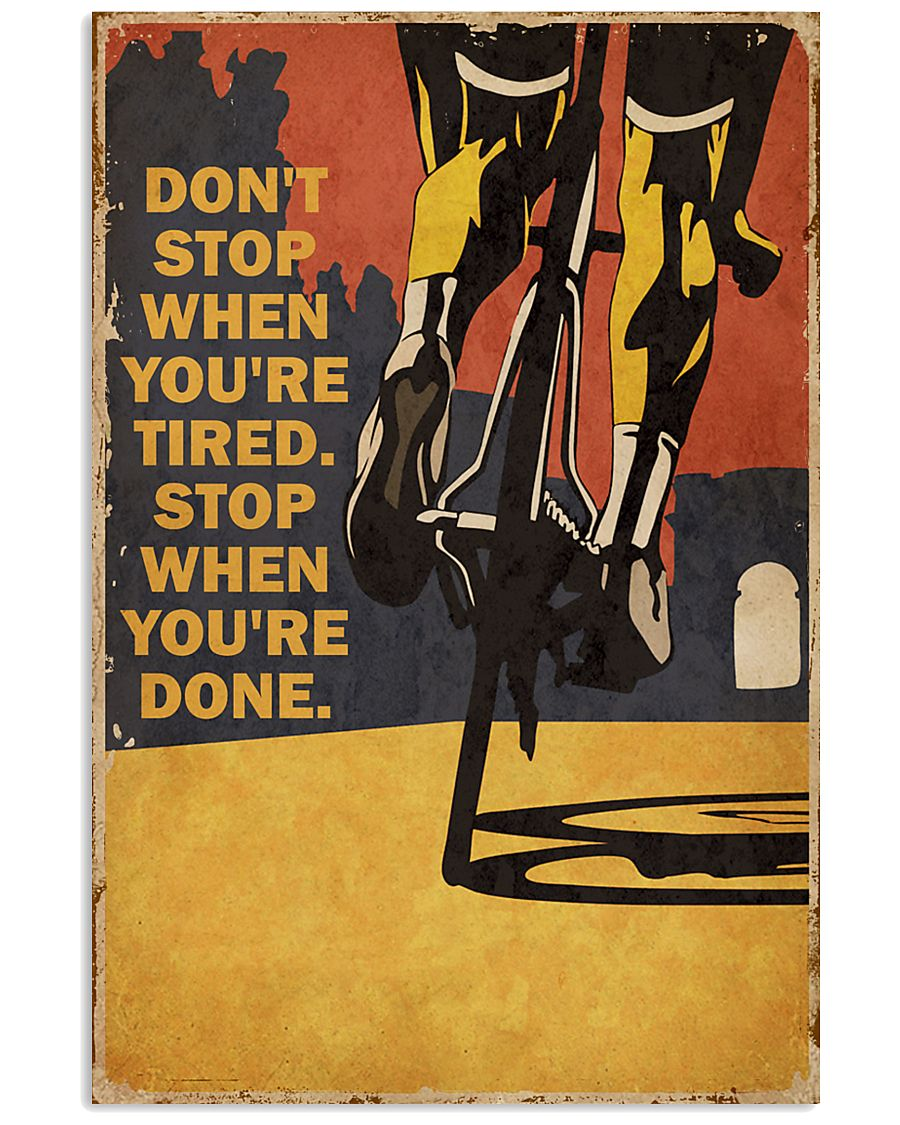 Vintage Don't Stop Cycling 11x17 Poster