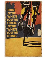 Vintage Don't Stop Cycling 11x17 Poster front