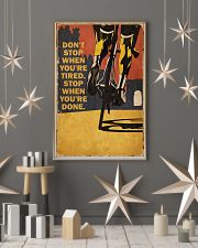 Vintage Don't Stop Cycling 11x17 Poster lifestyle-holiday-poster-1