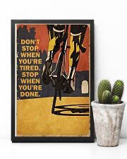 Vintage Don't Stop Cycling 11x17 Poster lifestyle-poster-8
