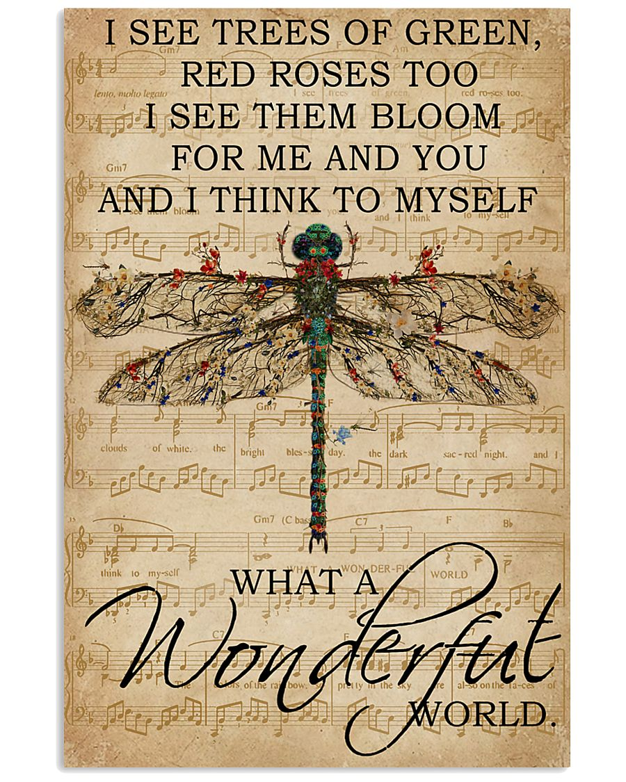 Music Sheet And I Think Dragonfly 16x24 Poster