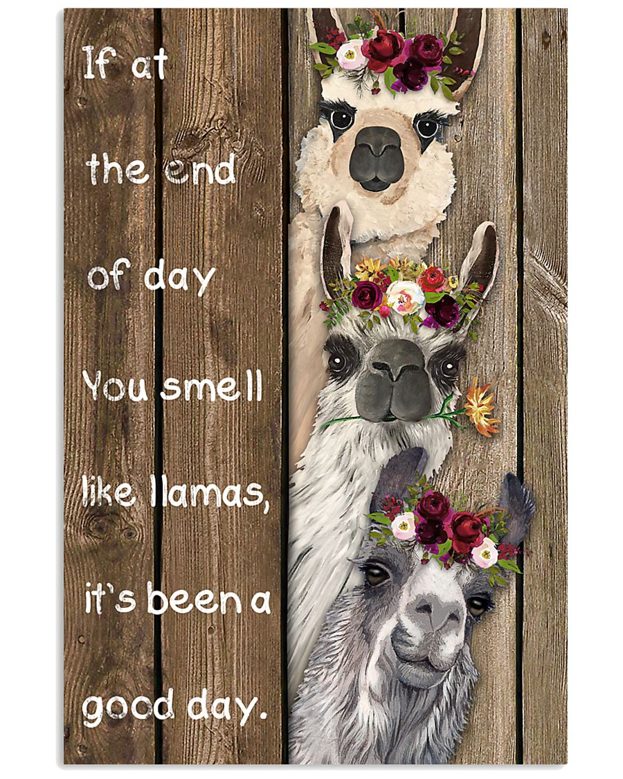 Wood Piece You Smell Like Llama 11x17 Poster