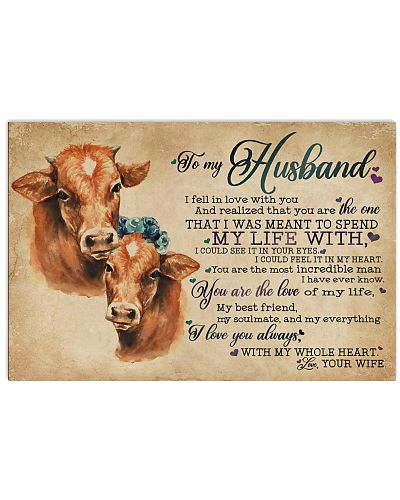 To My Husband I Fell In Love Cow