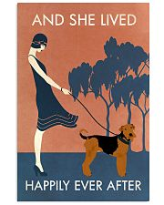 Vintage Girl Lived Happily Airedale Terrier 11x17 Poster front