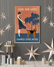 Vintage Girl Lived Happily Airedale Terrier 11x17 Poster lifestyle-holiday-poster-1