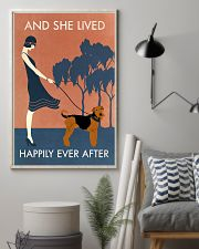 Vintage Girl Lived Happily Airedale Terrier 11x17 Poster lifestyle-poster-1