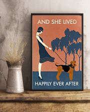 Vintage Girl Lived Happily Airedale Terrier 11x17 Poster lifestyle-poster-3