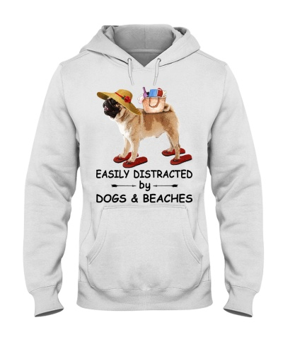 Easily Distracted Beach Pug